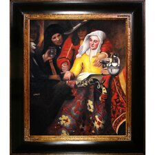 Procuress by Vermeer Framed Hand Painted Oil on Canvas