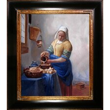 The Milkmaid by Vermeer Framed Hand Painted Oil on Canvas