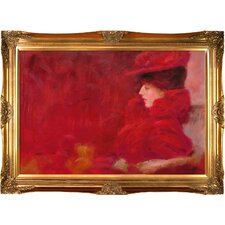 Lady in an Armchair by Klimt Framed Hand Painted Oil on Canvas