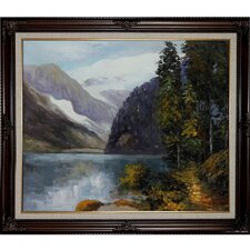 Lake Louise and British Columbia by Potthast Framed Hand Painted Oil on Canvas
