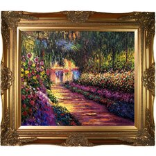 Pathway in Monet's Garden at Giverny by Claude Monet Framed Painting Print