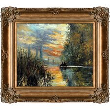 Evening at Argenteuil by Claude Monet Framed Painting Print