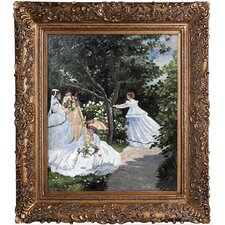 Women in the Garden by Claude Monet Framed Painting Print