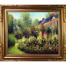 The Garden at Fontenay by Renoir Framed Hand Painted Oil on Canvas