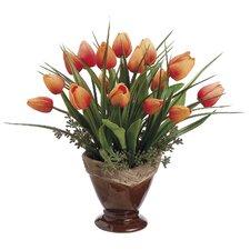 Tulip/Grass in Ceramic Pot