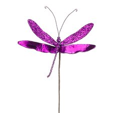 Princess Garden Sparkling Dragonfly Beaded Floral Craft Pick