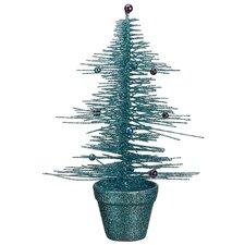 Whimsical Glittered Spike Table Tree