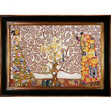 The Tree of Life, Stoclet Frieze, 1909 Metallic Embellished by Gustav Klimt Framed Painting on Canvas