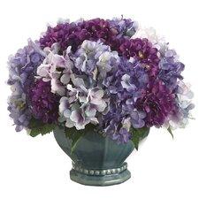 Hydrangea Mix with Pedestal Bowl