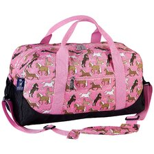 Horses Overnighter Duffel Bag in Pink