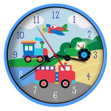 "Olive Kids Trains, Planes, Trucks 12"" Wall Clock"