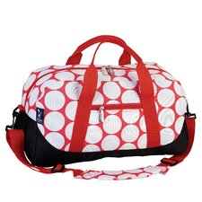 Ashley Big Dot Red & White Overnighter Duffel Bag
