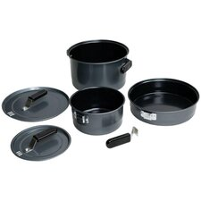 Family Steel 6-Piece Cookware Set