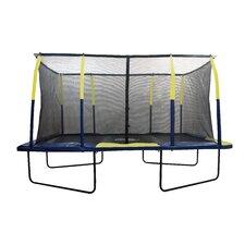 Spacious 15' Rectangular Trampoline with Fiber Flex Enclosure
