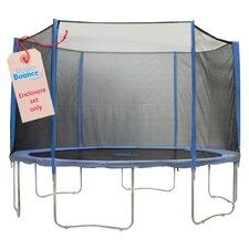 15' 31 Piece Round Trampoline Enclosure Set for 3/6 W Legs