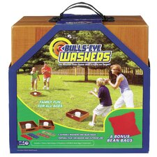 Bulls-Eye Washers and Bean Bag Toss Game
