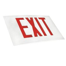 Cast Aluminum Extra Face Plate LED Exit Sign with Red Lettering and White Face