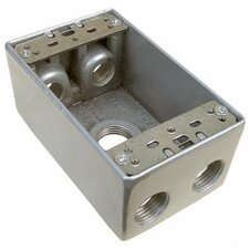 "Weatherproof Boxes in Gray with 0.75"" Outlet Holes (Set of 2)"