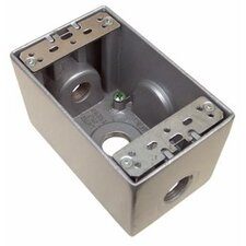 "2.75"" Weatherproof Boxes in Gray with 3 Outlet Holes"