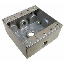 Weatherproof Boxes in Gray with Outlet Holes