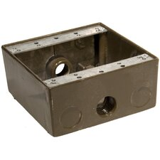 """Weatherproof Boxes in Bronze with Outlet Holes 0.5"""" in Bronze"""