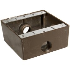 """Weatherproof Boxes in Bronze with Outlet Holes 0.75"""" in Bronze"""
