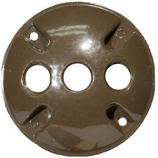 """4"""" Round Weatherproof Covers in Bronze with 0.5"""" Three Hole (Set of 4)"""