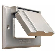 One Gang Weatherproof Covers in Gray for Horizontal GFCI / Decorator (Set of 2)