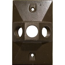 Three Hole Rectangular Lamp Holder One Gang Weatherproof Covers (Set of 4)