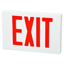 LED Exit Sign in Red LED and White Housing