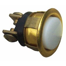 Gold Rim Lit Pushbutton in Chrome (Set of 3)