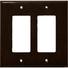 2 Gang Midsize Decorative / GFCI Lexan Wall Plates in Brown (Set of 5)