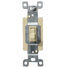 20A-120/277V Commercial Single Pole Toggle Switch in Ivory (Set of 3)