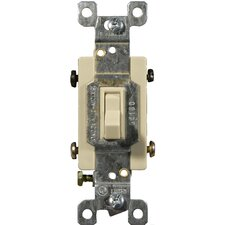 15A-120/277V 4 Way Toggle Switch in Ivory (Set of 2)