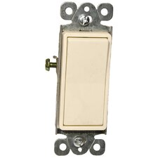 15A-120/277V Single Pole Decorator Switches in Almond