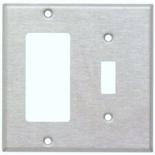 Two Gang / Toggle and GFCI Metal Wall Plates in Stainless (Set of 4)
