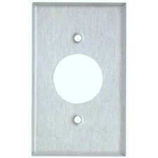"""1.62"""" Gang Single Receptacle Metal Wall Plates in Stainless (Set of 5)"""