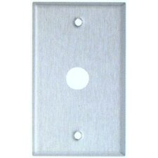 """0.41"""" Gang Cable Metal Wall Plates in Stainless (Set of 5)"""