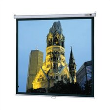 "Model B High Contrast Matte White 109"" Manual Projection Screen"