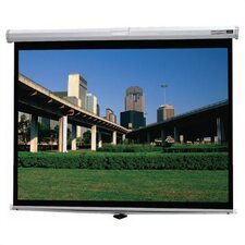 Deluxe Model B High Contrast Matte White Manual Projection Screen