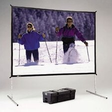 "Fast Fold Deluxe DA-Tex 180"" Diagonal Portable Projection Screen"