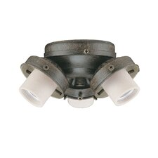 Three Light A15 Turtle Light Kit in Aged Pecan