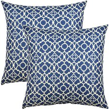 Lovely Lattice Cotton Throw Pillow