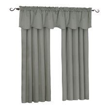 Suede Rod Pocket Window Single Curtain Panel