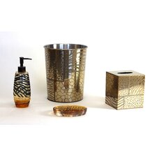 Safari 4 Piece Bathroom Accessory Set