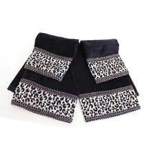 Cheetah Decorative 4 Piece Towel Set