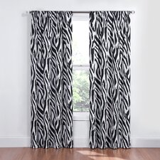 Kids Safari Rod Pocket Single Curtain Panel