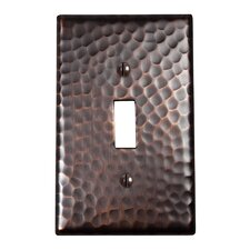 Hammered Copper Single Switch Plate