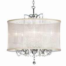 Viviane 5 Light Crystal Chandelier