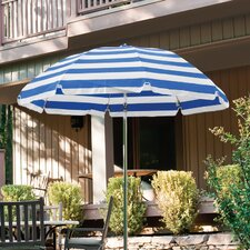 7.5 ft. Diameter Steel Commercial Grade Striped Acrylic Patio Umbrella